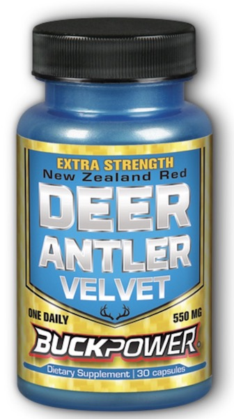 Image of BuckPower Deer Antler Velvet 550 mg Extra strength