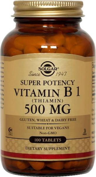 Image of Vitamin B1 500 mg (Thiamin) Super Potency