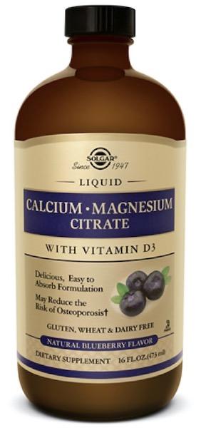 Image of Liquid Calcium Magnesium Citrate with Vitamin D3 Blueberry