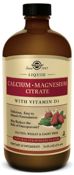 Image of Liquid Calcium Magnesium Citrate with Vitamin D3 Strawberry