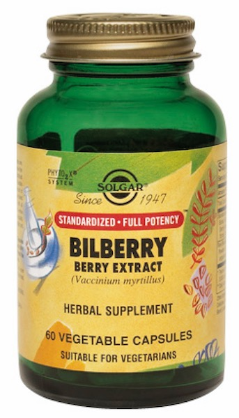Image of Bilberry Berry Extract 60 mg with Blueberry (Standardized Full Potency)