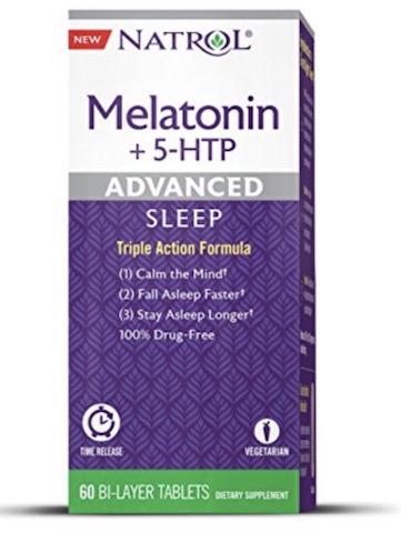 Image of Melatonin + 5-HTP Advanced Sleep 6/50 mg