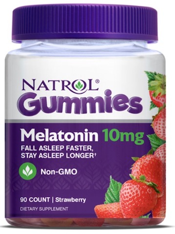 Image of Melatonin 10 mg Gummies (5 mg per Gummy) Strawberry