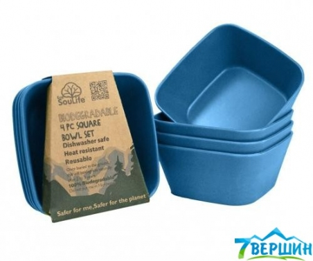 Image of Bamboo-Square Bowl Navy