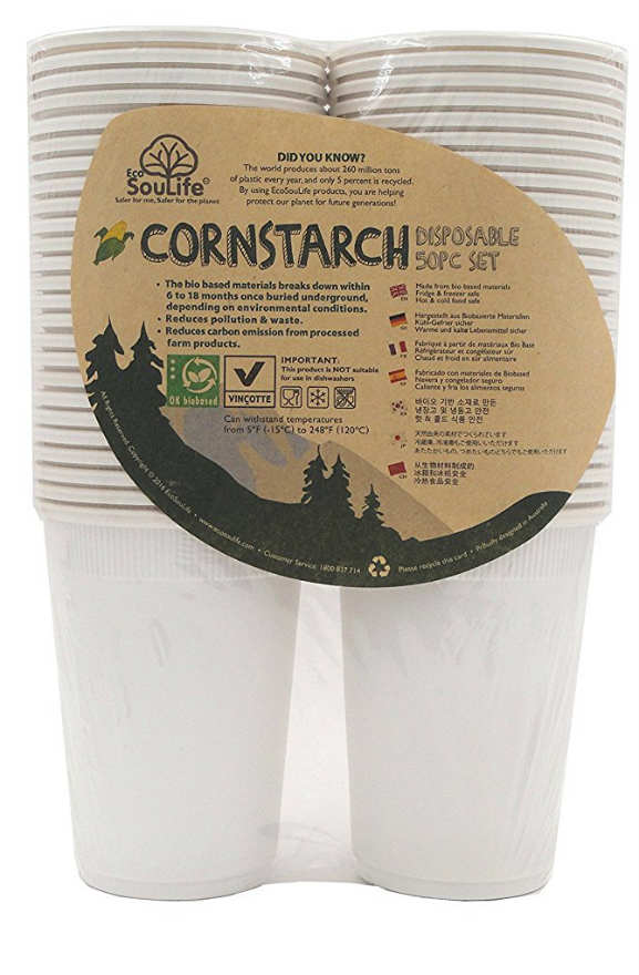 Image of Corn Starch-Cup 16 ounce Natural