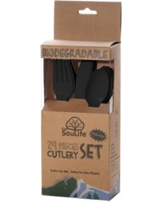 Image of Corn Starch-Cutlery Set Black