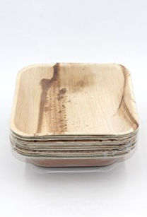 Image of Palm Leaf-Square Bowl 6' Natural