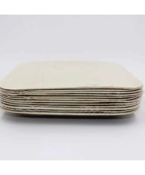 Image of Palm Leaf-Square Plate 10' Natural