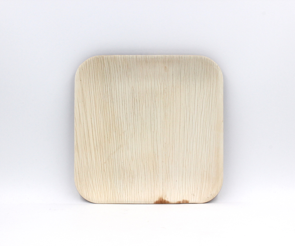 Image of Palm Leaf-Square Plate 8' Natural