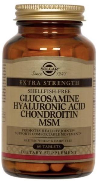 Image of Glucosamine Hyaluronic Acid Chondroitin MSM (Shellfish-Free) Extra Strength