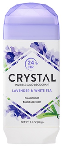 Image of Crystal Deodorant Invisible Solid Stick Lavender & White Tea