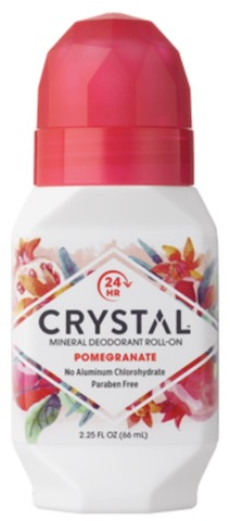 Image of Crystal Essence Mineral Deodorant Roll-On Pomegranate
