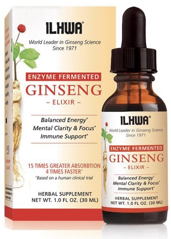 Image of Enzyme Fermented Ginseng Elixir 96 mg Liquid