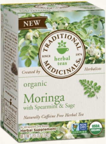 Image of Moringa with Spearmint & Sage Tea