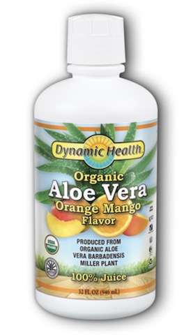 Image of Aloe Vera Juice Liquid Orange Mango Organic