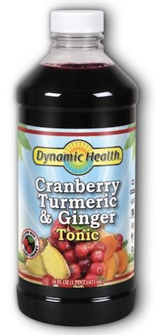 Image of Cranberry Turmeric & Ginger Tonic Liquid (Plastic Bottle)