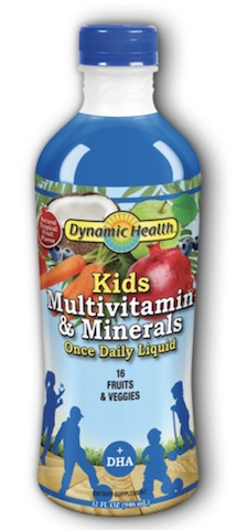 Image of Kids Multivitamin and Minerals Once Daily Liquid Fruit