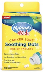Image of 4 Kids Canker Sores Soothing Dots Relief Tablets