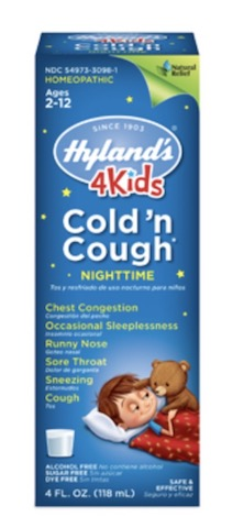 Image of 4 Kids Cold 'n Cough Nighttime Liquid Grape