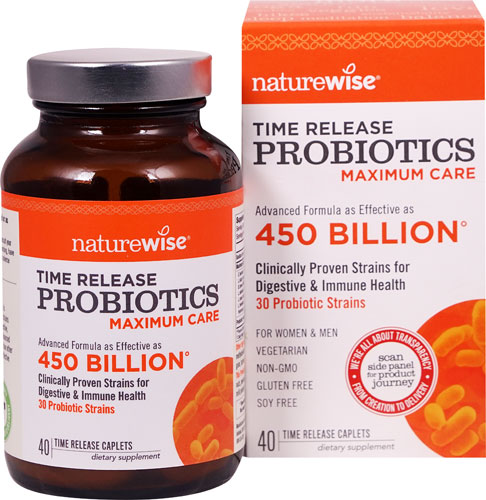 Image of Maximum Care Time Release Probiotics Equivalent to 450 Billion CFU 30 Strains
