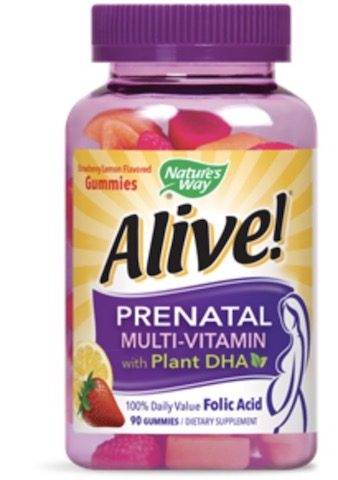 Image of Alive! Prenatal Multi-Vitamin with DHA Gummies