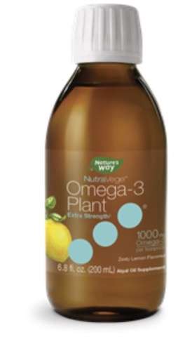 Image of NutraVege Omega-3 Plant-Based Extra Strength Liquid Lemon