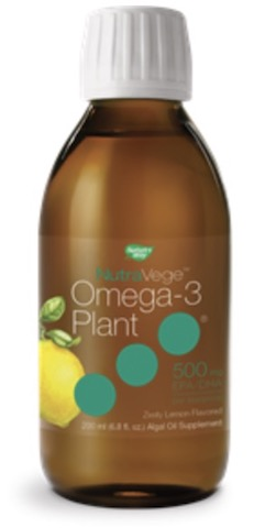 Image of NutraVege Omega-3 Plant-Based Liquid Lemon