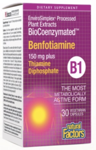 Image of BioCoenzymated Benfotiamine 150 mg plus Thiamine