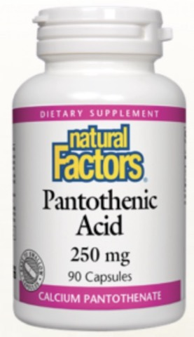 Image of Pantothenic Acid  250 mg