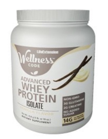 Image of Wellness Code Advanced Whey Protein Isolate Powder Vanilla