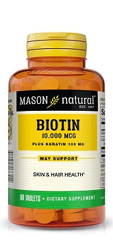 Image of Biotin 10,000 Mcg + Keratin