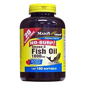 Image of No Burp Omega-3 Fish Oil, 1000 mg