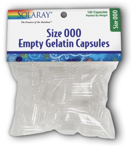 Image of Empty Gelatin Capsules 000