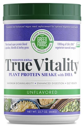 Image of True Vitality Plant Protein Shake with DHA Powder Unflavored