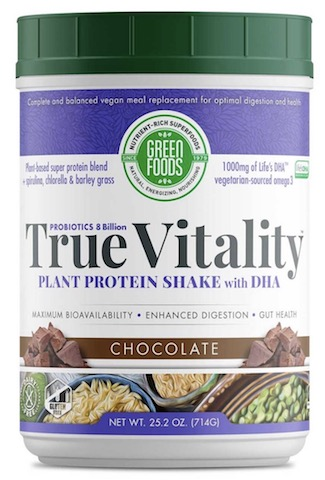 Image of True Vitality Plant Protein Shake with DHA Powder Chocolate
