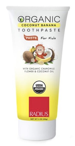 Image of Toothpaste for Kids Coconut Banana Organic