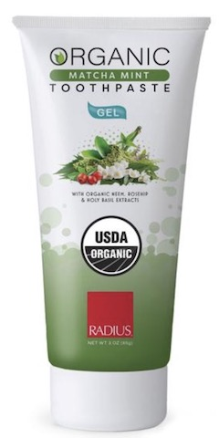Image of Toothpaste Gel Matcha Mint Organic