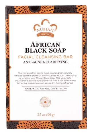 Image of African Black Soap Facial Cleansing Bar