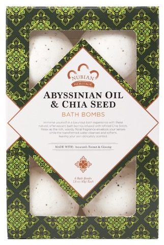 Image of Abyssinian Oil and Chia Seed Bath Bomb
