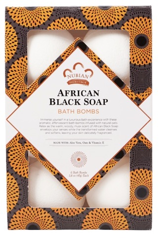 Image of African Black Soap Bath Bombs