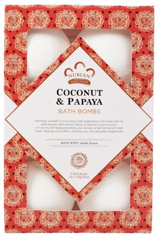 Image of Coconut & Papaya Bath Bombs