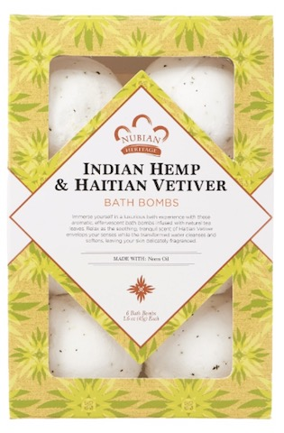 Image of Indian Hemp & Haitian Vetiver Bath Bombs