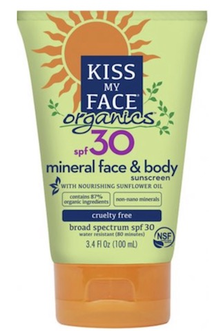 Image of Sunscreen Organics Face & Body Mineral SPF 30