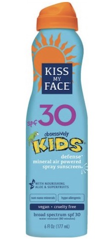 Image of Kids Sunscreen Spray Defense Mineral Lotion SPF 30