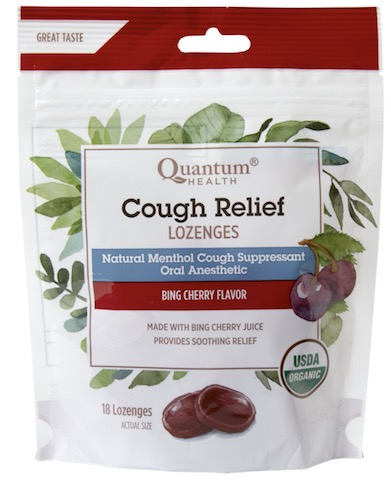 Image of Cough Relief Lozenges Organic Bing Cherry