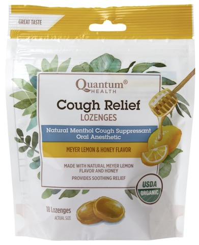 Image of Cough Relief Lozenges Organic Meyer Lemon & Honey