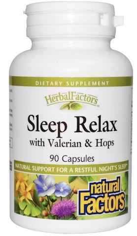 Image of HerbalFactors Sleep Relax with Valerian & Hops