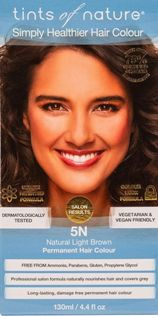 Image of 5N Natural Light Brown Permanent Hair Dye