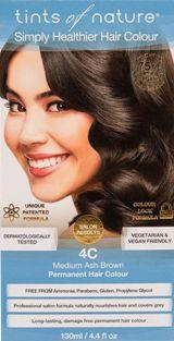 Image of 4C Medium Ash Brown Permanent Hair Dye