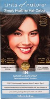 Image of 4N Natural Medium Brown Permanent Hair Dye